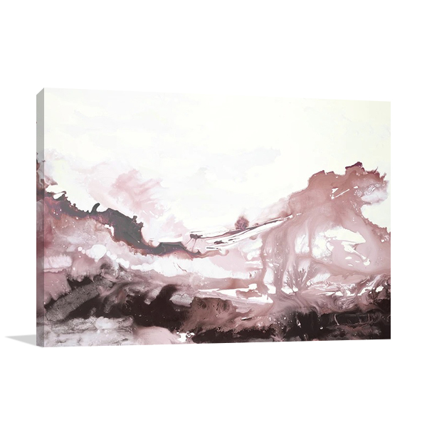 Pink Blush Ink Flow Canvas Print
