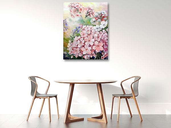 Pink Flower Bouquet Wall Art Print