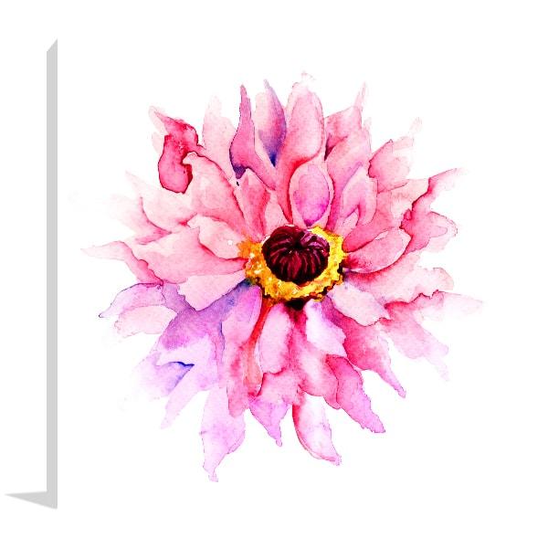 Pink Flower Canvas Art