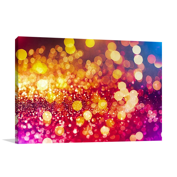 Pink Gold Lights Wall Print