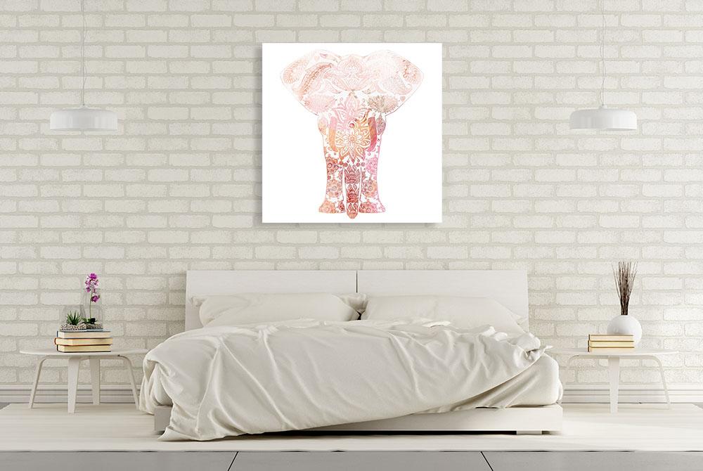 Pink Animal Square Print