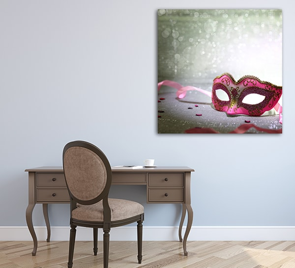 Pink Mask Art Prints on the Wall