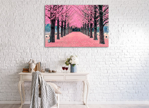 Pink Trees Prints Canvas