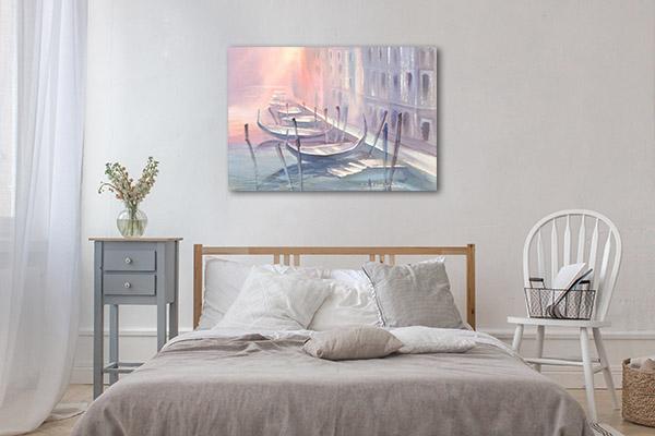 Pink Violet Gondola Print Artwork