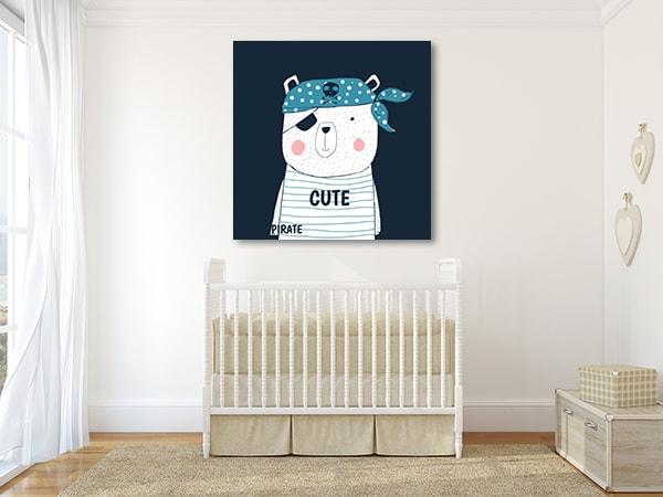 Pirate Panda Prints Canvas