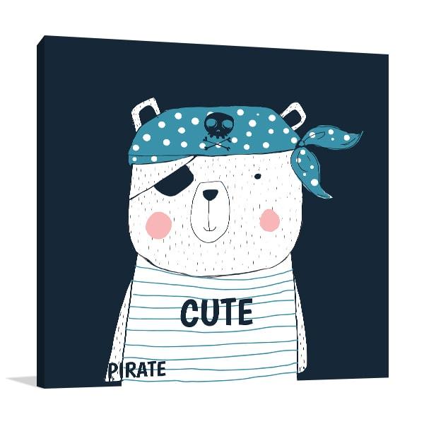 Pirate Panda Canvas Art Prints