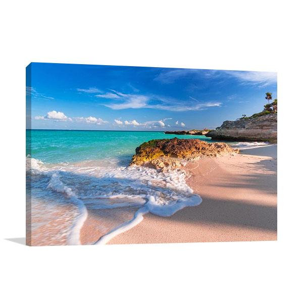 Playa del Carmen Beach Print Canvas