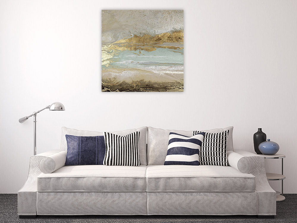 Abstract Marble Art Print on Canvas