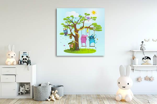 Playing Animals Canvas Art Prints