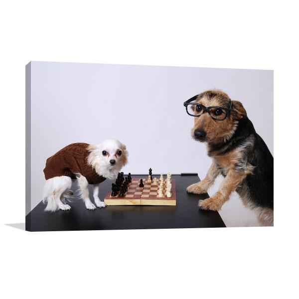 Playing Chess Artwork