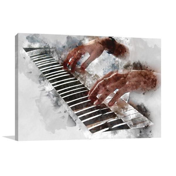 Playing Piano Artwork