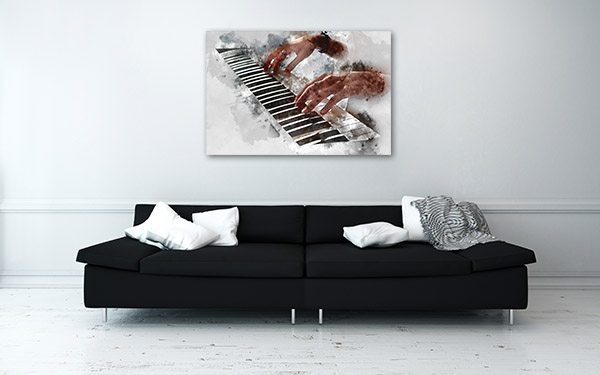 Playing Piano Canvas Prints