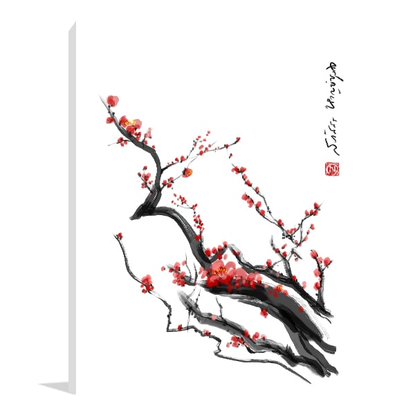 Plum Blossom Canvas Art