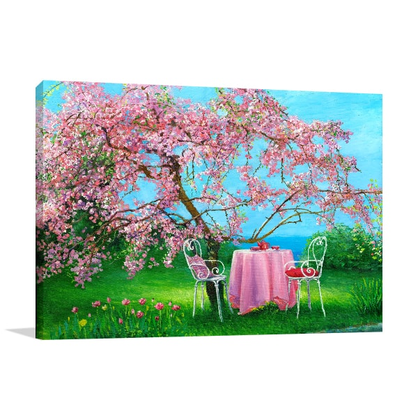 Plum Garden Canvas Artwork