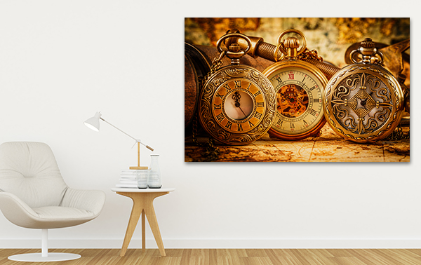 Pocket Watch Art Print on the wall