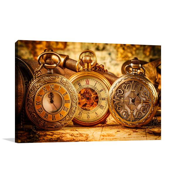 Pocket Watch Canvas Artwork