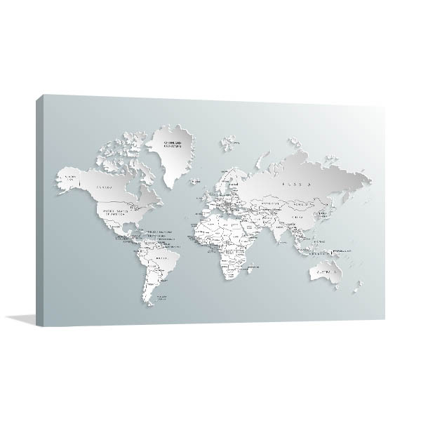 Political Map Canvas Prints