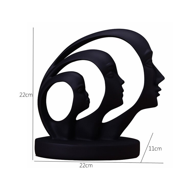 Home Decor Poly Resin Abstract Statue Brisbane