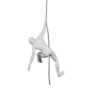 Poly Resin Climbing Man C White