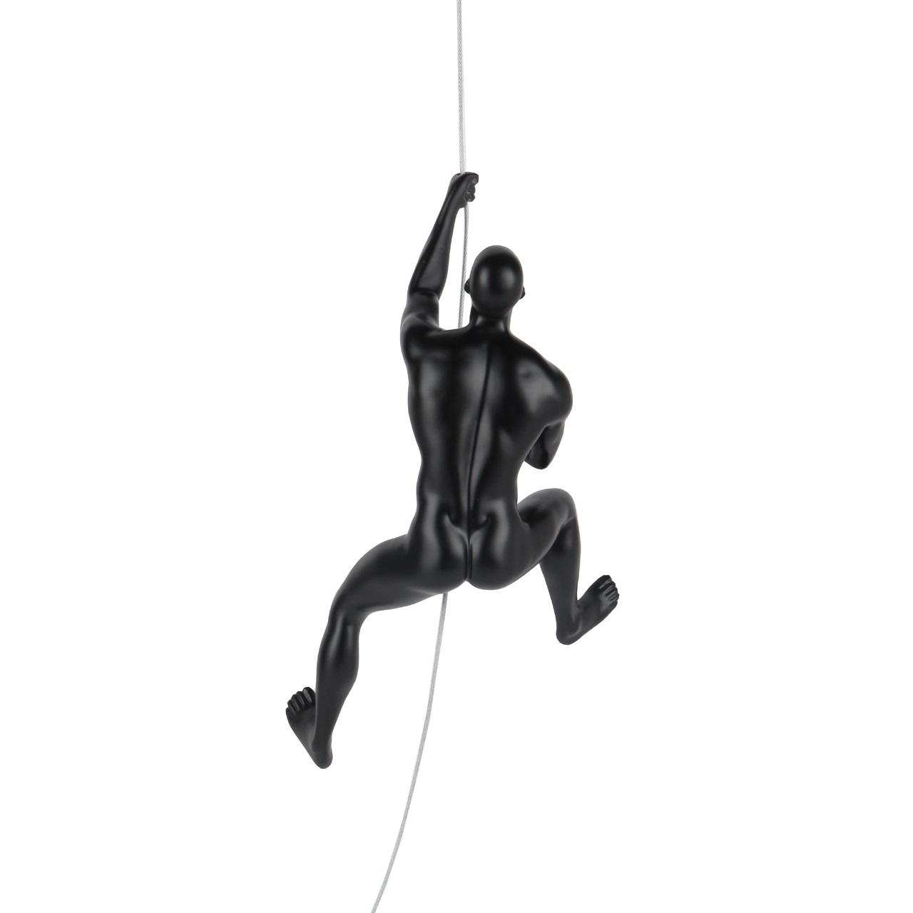 Poly Resin Climbing Man D Matte Black