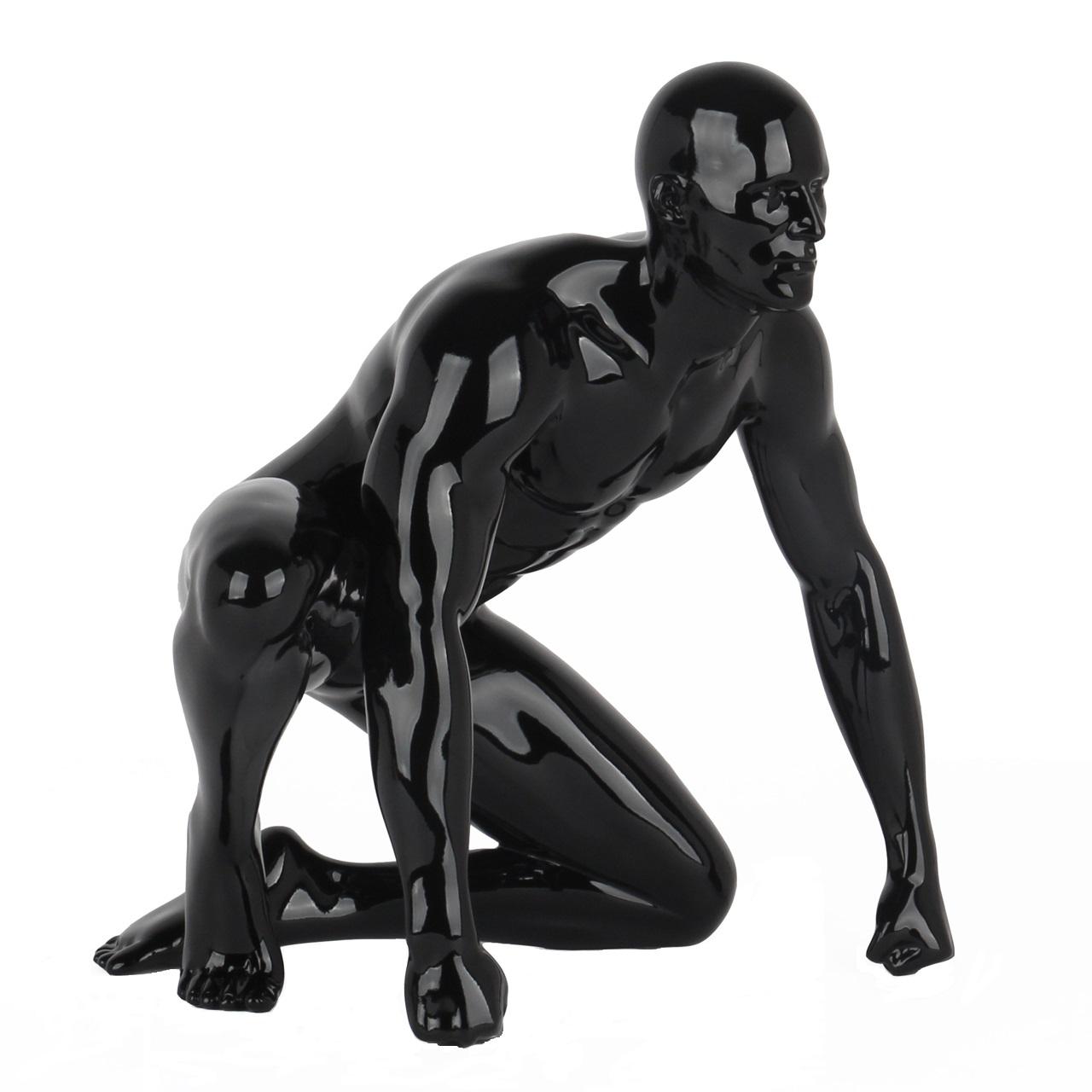 Poly Resin Redemption Sculpture Black