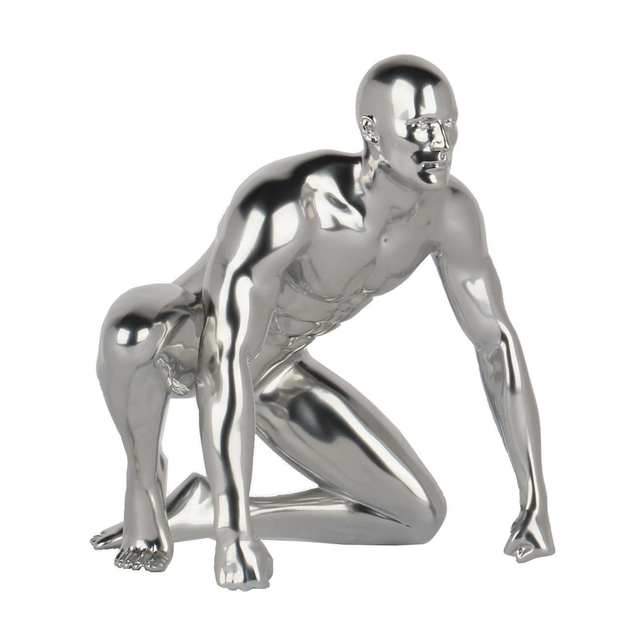 Poly Resin Redemption Sculpture Metallic Silver
