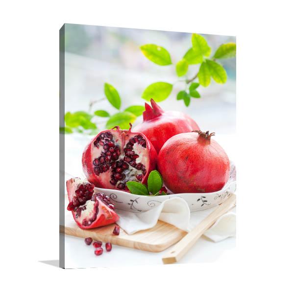 Pomegranates Canvas Art Prints
