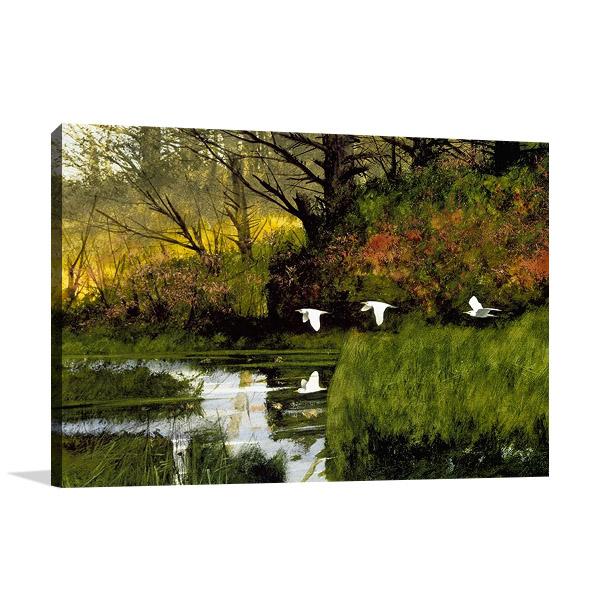 Pond Flight Wall Print | Dominguez M