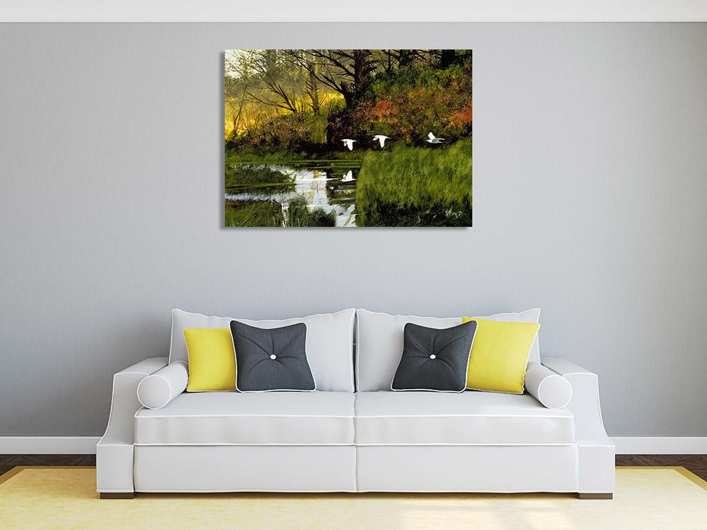 Print Canvas Green Landscape