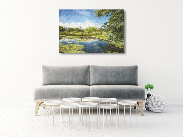 Pond Garden Wall Art