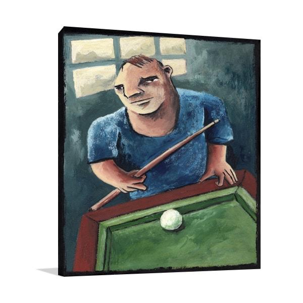 Pool Player Canvas Prints