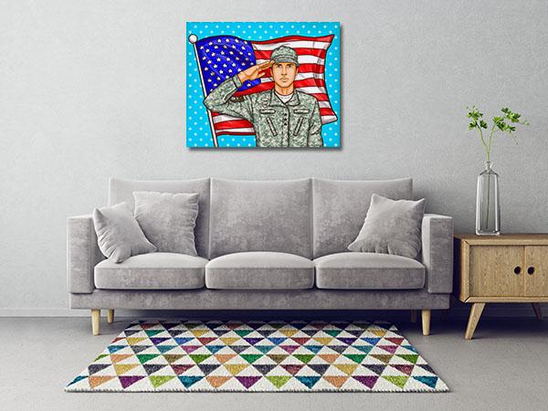 Popart Patriotic Prints Canvas