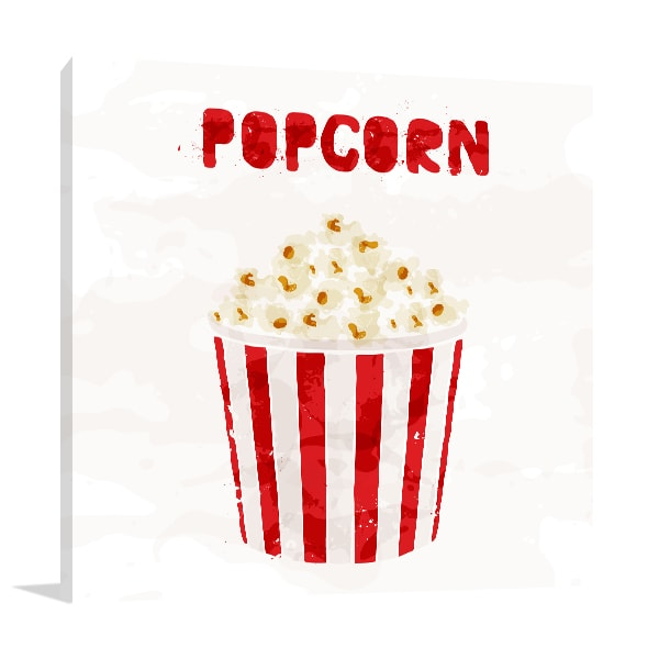 Popcorn Canvas Art
