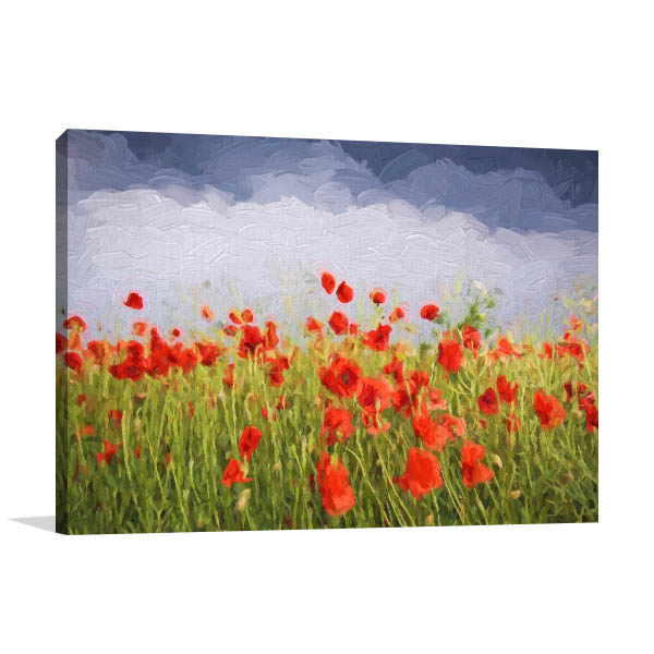 Poppies In Storm Wall Art