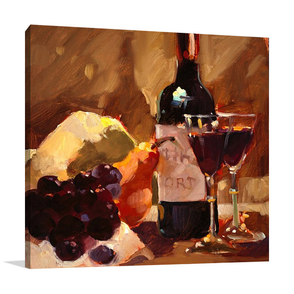 Port and Pear Canvas Print| Hill D