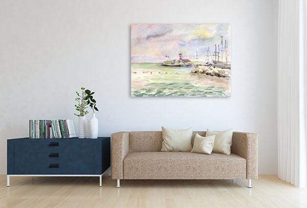 Port Area Canvas Prints