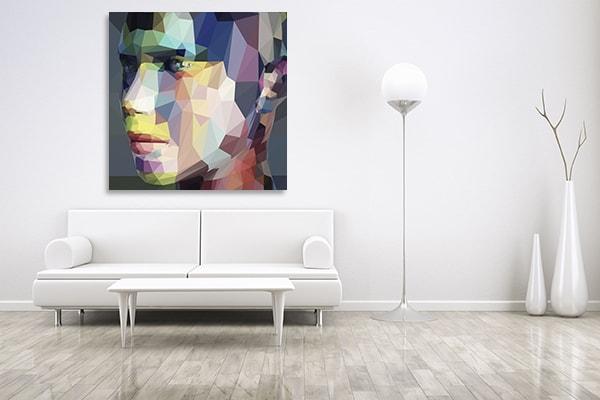 Portrait Triangles Prints Canvas
