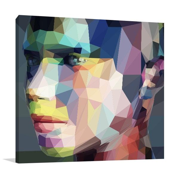 Portrait Triangles Print Artwork