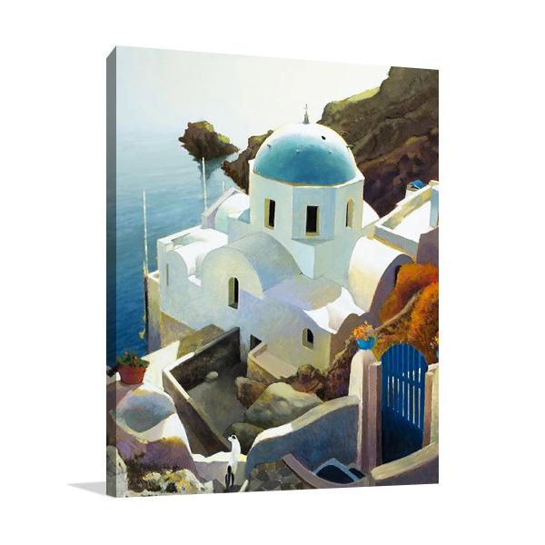Postmark Santorini Wall Print