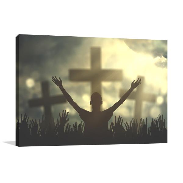 Praising Christian Wall Art