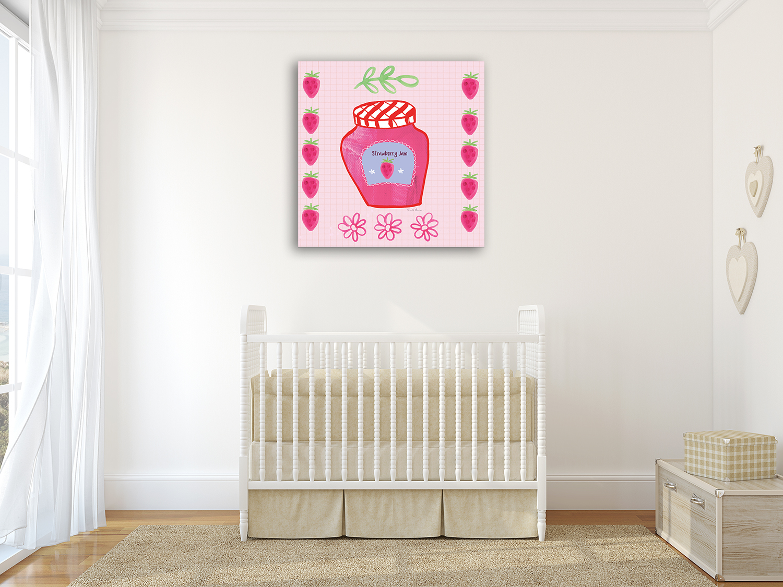 Pink Contemporary Canvas Art