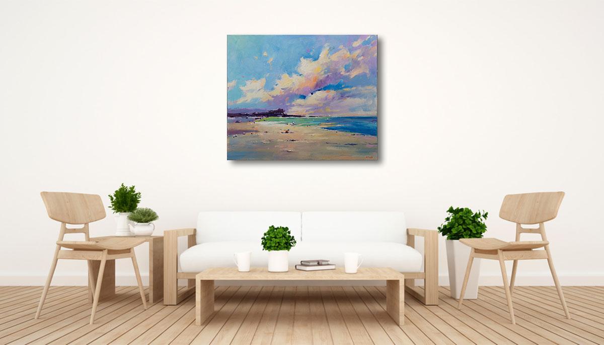 Li Zhou Paintings | Private Beach VII Prints | Wall Art Canvas