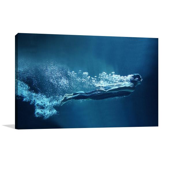 Professional Swimmer Wall Art