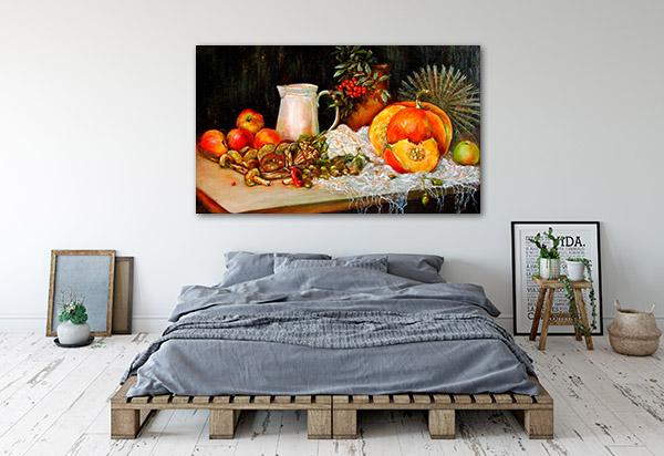 Pumpkin And Mushrooms Prints Canvas