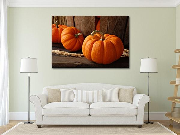 Pumpkins Canvas Artwork on the Wall