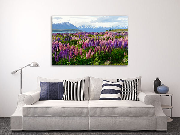 Purple and Pink Flowers Canvas Art