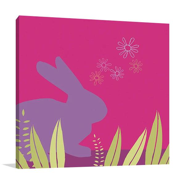 Purple Bunny Canvas Art Print