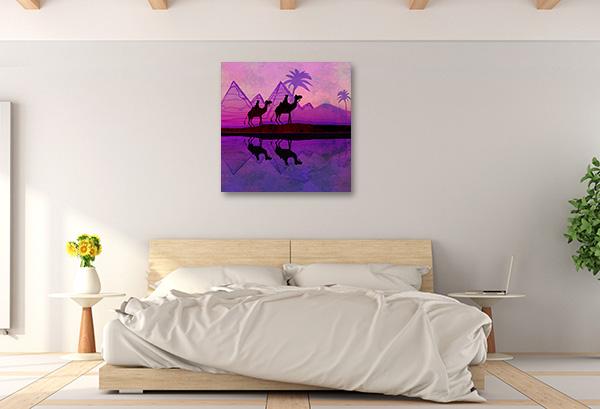 Purple Camel Train Art Prints