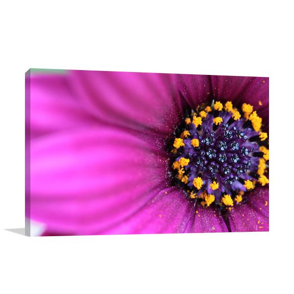 Purple Flower Print Artwork