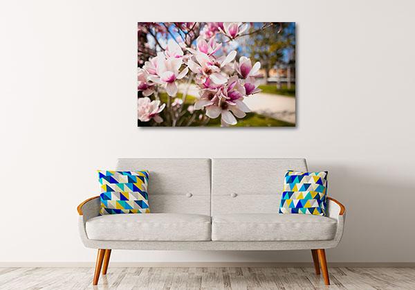 Purple Magnolia Flowers Artwork